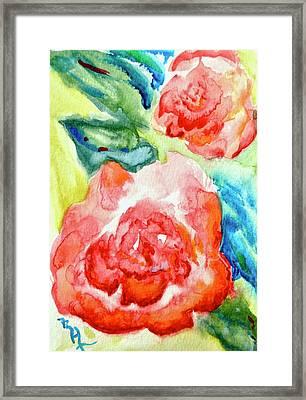 Vintage Roses Framed Print by Beverley Harper Tinsley