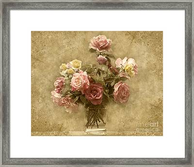 Framed Print featuring the photograph Vintage Roses by Cheryl Davis