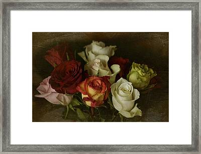 Framed Print featuring the photograph Vintage Roses Feb 2017 by Richard Cummings