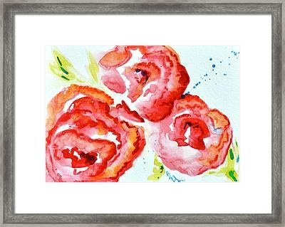 Vintage Roses II Framed Print by Beverley Harper Tinsley