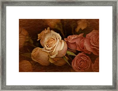 Framed Print featuring the photograph Vintage Roses March 2017 by Richard Cummings