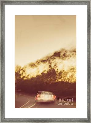 Vintage Rural Car Chase Framed Print by Jorgo Photography - Wall Art Gallery