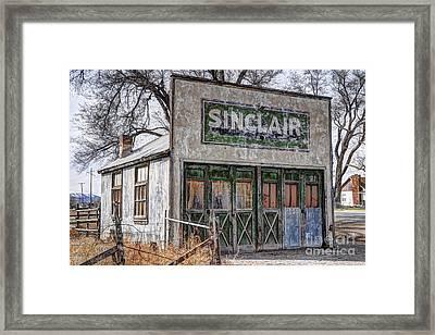 Vintage Rural Gas Station - Elberta Utah Framed Print
