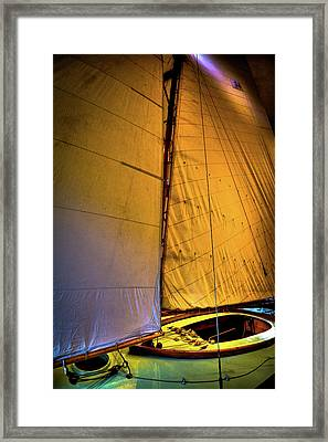 Framed Print featuring the photograph Vintage Sailboat by David Patterson
