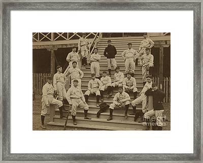 Vintage Saint Louis Baseball Team Photo Framed Print