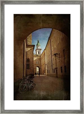 Framed Print featuring the photograph Vintage Salzburg by Carol Japp