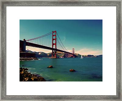 Vintage San Francisco Framed Print