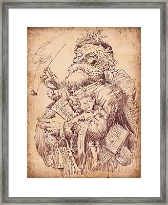 Vintage Santa Framed Print by Robbi  Musser
