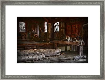 Vintage Sawmill  Framed Print by Paul Ward