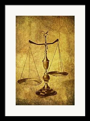 Justice Framed Prints