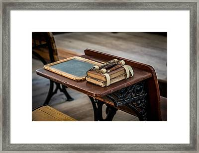 Vintage School Desk Framed Print by Paul Freidlund