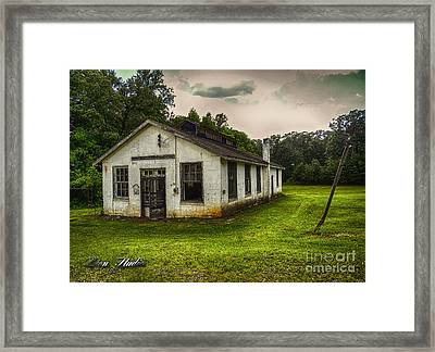Vintage School House Framed Print by Melissa Messick