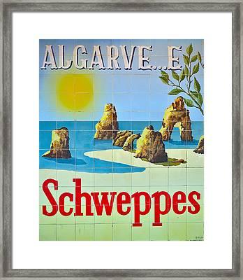Vintage Schweppes Algarve Mosaic Framed Print