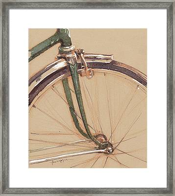 Vintage Schwinn Framed Print by Tracie Thompson