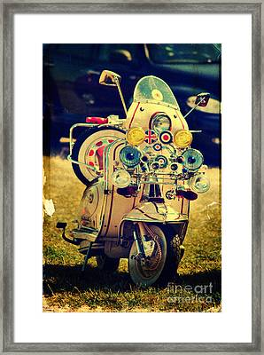 Vintage Scooter Framed Print