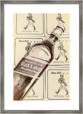 Vintage Scotch Whisky Pub Artwork Framed Print