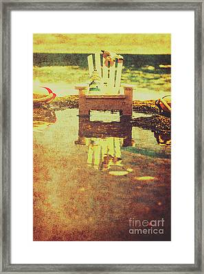 Vintage Seaside Vacationing Framed Print by Jorgo Photography - Wall Art Gallery
