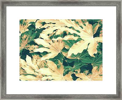 Vintage Season Gold Framed Print