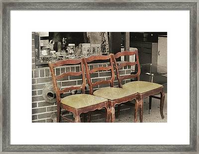Vintage Seating Framed Print by JAMART Photography