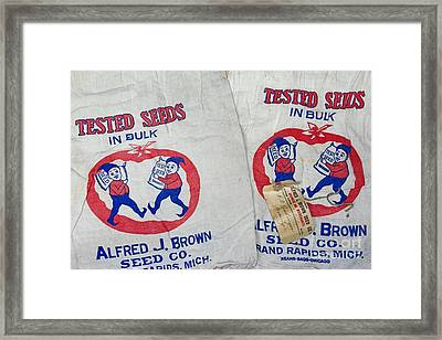 Vintage Seed Advertisement  Framed Print by Paul Ward