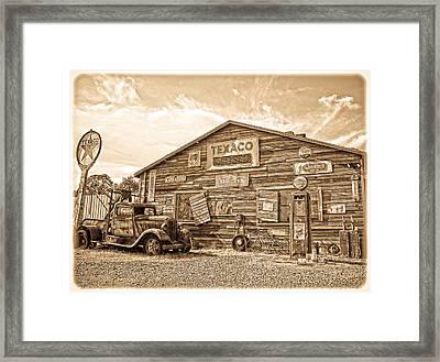 Vintage Service Station Framed Print