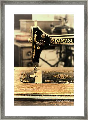 Framed Print featuring the photograph Vintage Sewing Machine by Jill Battaglia
