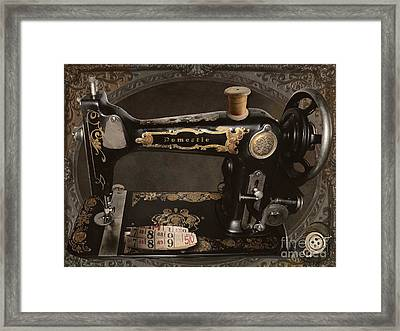 Vintage Sewing Machine Framed Print by Mindy Sommers