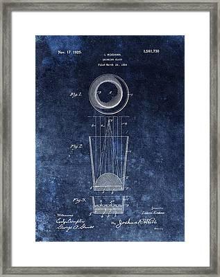 Vintage Shot Glass Patent  Framed Print