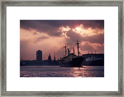 Vintage Shot Of The Guinness Boat Lady Framed Print by Panoramic Images
