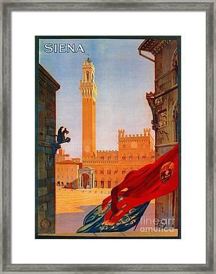 Vintage Siena Italian Travel Advertising Framed Print