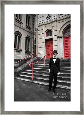 Vintage Sinister Man Framed Print