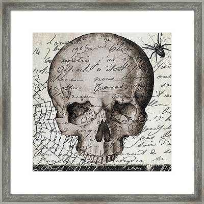 Vintage Skull Halloween Paris Framed Print by Mindy Sommers