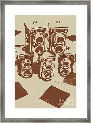Vintage Snapshots And Old Cameras Framed Print