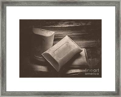 Vintage Soap Framed Print