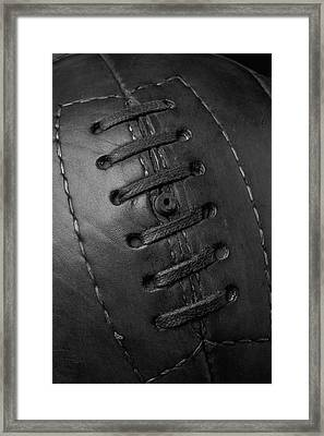 Vintage Soccer Ball Black And White Framed Print by Garry Gay