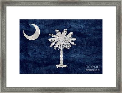 Vintage South Carolina Flag Framed Print