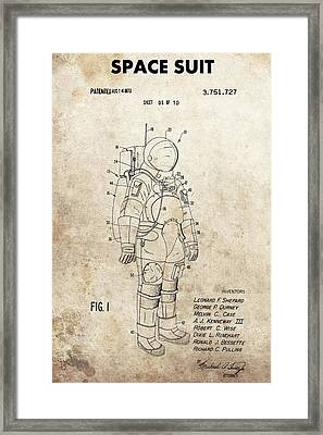 Vintage Space Suit Patent Framed Print by Dan Sproul