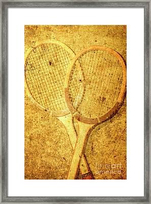 Vintage Sports Framed Print