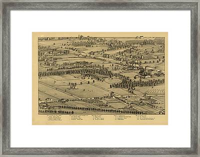 Vintage St Louis Map - 1875 Framed Print