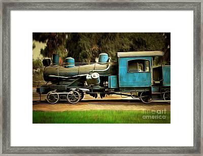Vintage Steam Locomotive 5d29167brun Framed Print by Home Decor
