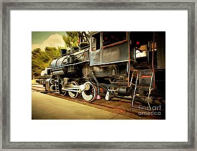 Vintage Steam Locomotive 5d29222brun Framed Print by Home Decor