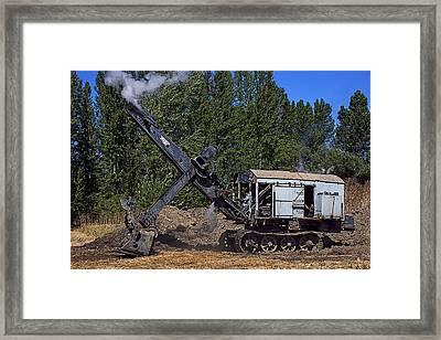 Vintage Steam Shovel Framed Print by Garry Gay