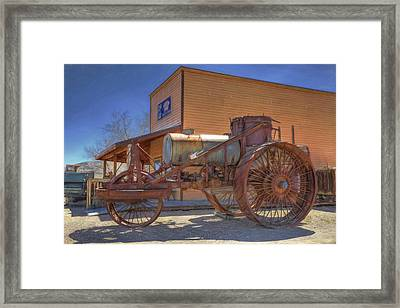 Vintage Steam Tractor Framed Print by Donna Kennedy