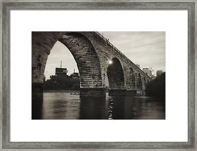 Vintage Stone Arch Bridge Framed Print