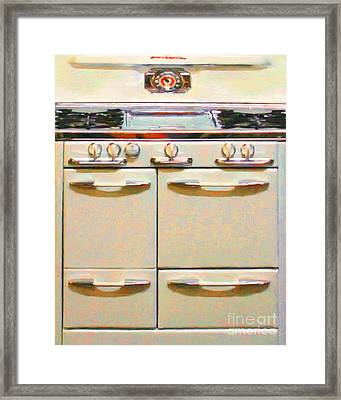 Vintage Stove 20150828 V2 Framed Print by Wingsdomain Art and Photography