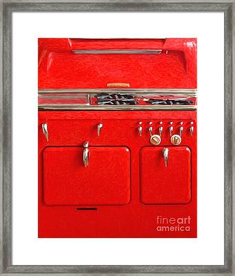 Vintage Stove 20150828 V3 Framed Print by Wingsdomain Art and Photography