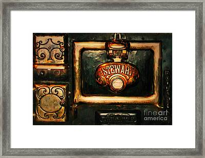 Vintage Stove 20150828 Framed Print by Wingsdomain Art and Photography