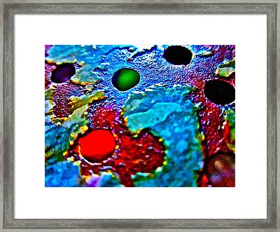 Vintage Strainer Two Framed Print by Gwyn Newcombe