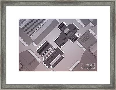 Vintage Streaming Devices Radio And Tv Retro Poster Framed Print by Monkey Crisis On Mars