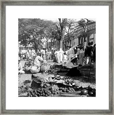 Vintage Street Scene In Ponce - Puerto Rico - C 1899 Framed Print by International  Images
